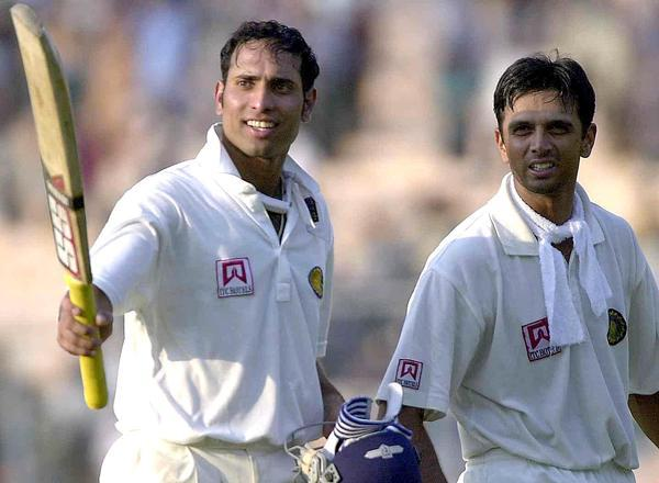 VVS Laxman and Rahul Dravid during their epic partnership against Australia at Kolkata in 2001