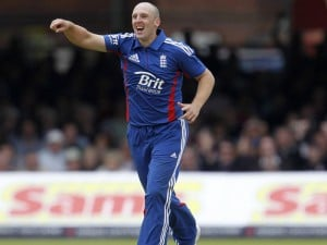 James Tredwell (4/44) has recorded his career-best bowling figures ODIs, bettering the 4 for 48 against the West Indies at Chennai on March 17, 2011
