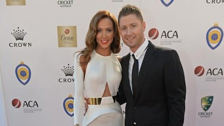 Michael Clarke gets the fourth allan border medal