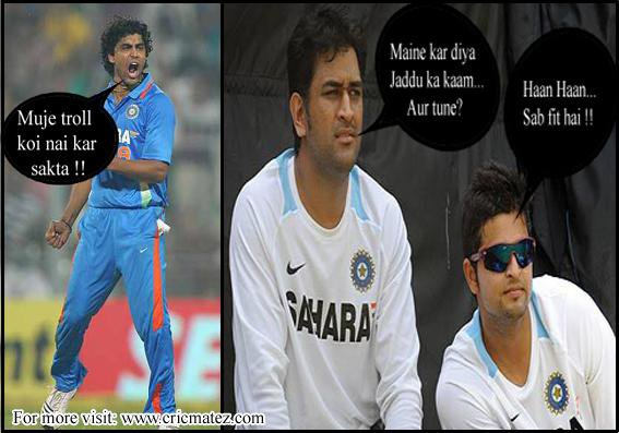 Jadeja Trolled By Dhoni and Raina