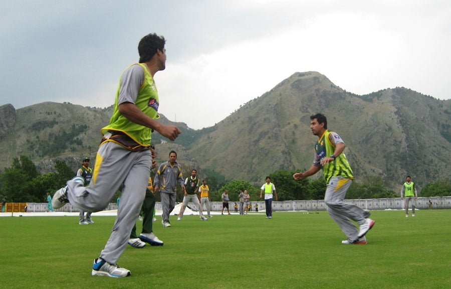 ICC Champions Trophy Pakistan players during a training session in Abbottabad Team Preview - PAKISTAN