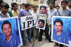 Spot Fixing in IPL Fans protest in Jaipur against thr players involved in Spot Fixing in IPL