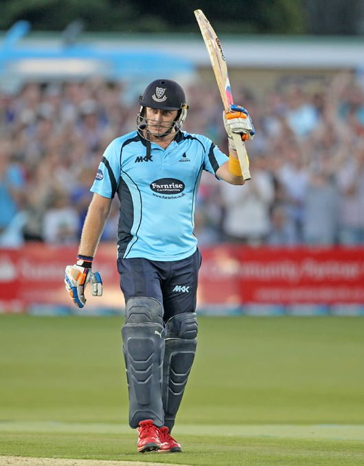 Scott Styris after Scoring his century vs Glucocestershire-Fastest Centuries in T20 Cricket