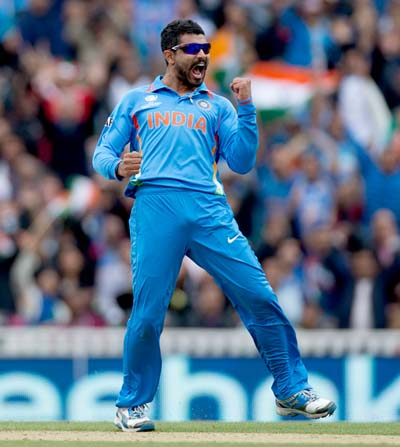 Ravindra Jadeja is the first Indian to take a 5-wicket haul in ICC Champions Trophy