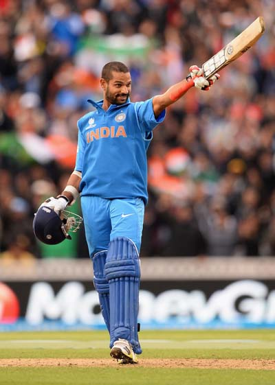 Shikhar Dhawan is the 9th Indian to score consecutive ODI 100s