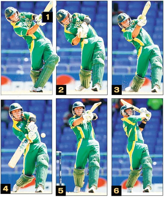 Herschelle Gibbs hits six sixes in an over