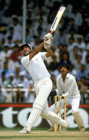 Ravi Shastri hits six sixes in an over