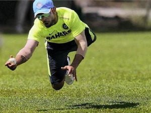 Virat Kohli, one of the best fielder