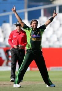 Shahid Afridi  After taking the wicket of Ab de villiers