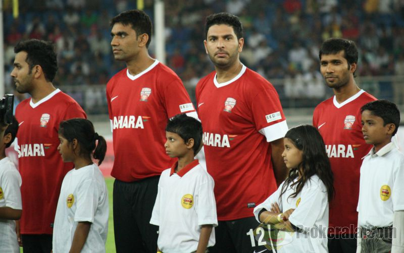 Football match between cricketers and filmstars