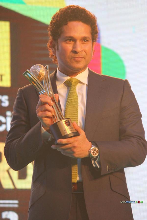 Cricketer of the generation award received by sachin tendulkar