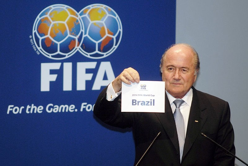 FIFA president Joseph Blatter announcing Brazil as the hosts
