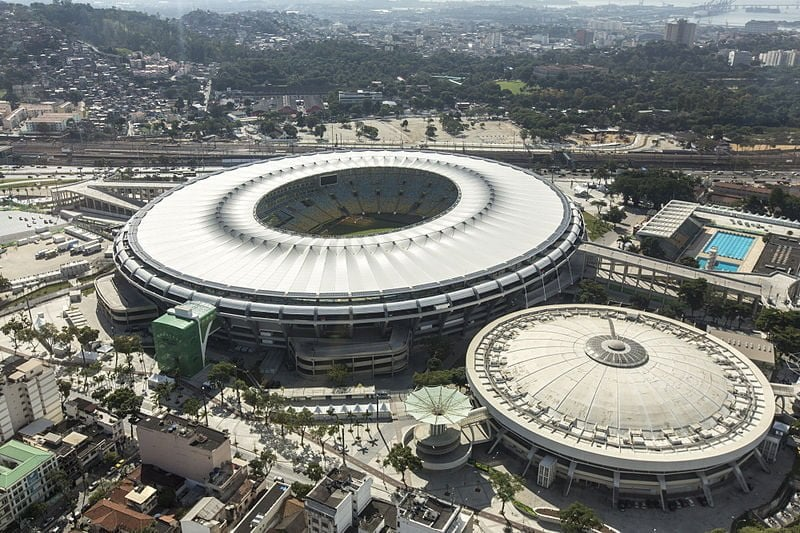 A view of Maracana Stadium which will host the World Cup final