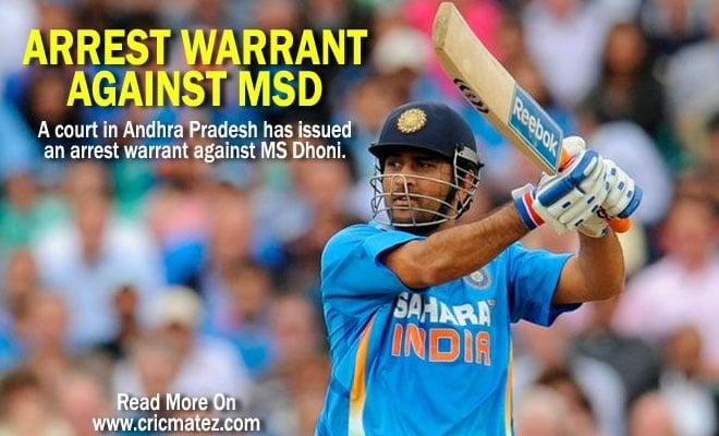 arrest warrant against MS Dhoni