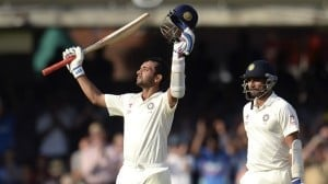 The Lord's Triumph!: Rahane scored century through ruins.