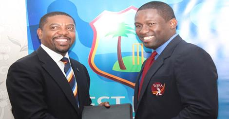 WICB and WIPA executives after signing the agreement of MOA and CBA