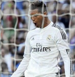 Cristiano Ronaldo celebrates the equaliser