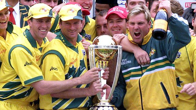 Steve Waugh gave Australia the cup after a long wait of 12 years
