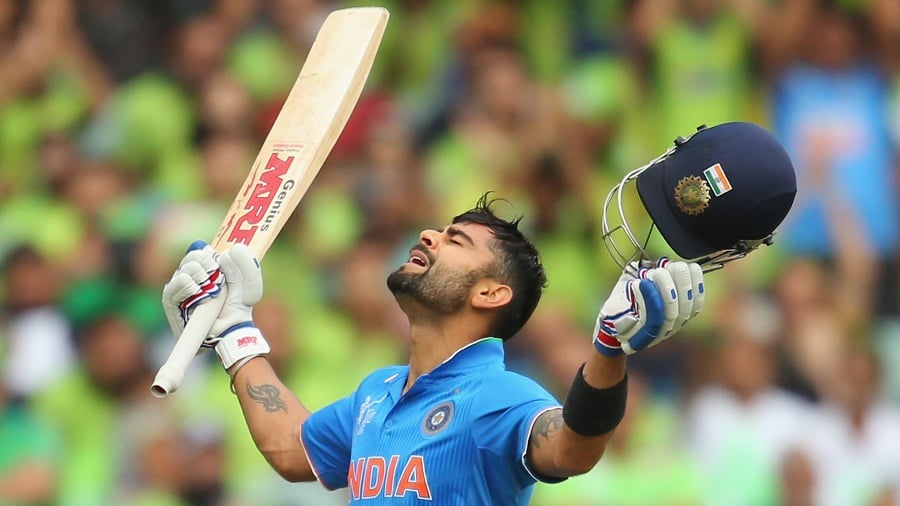 Kohli scored his 3rd century at the Adelaide Oval