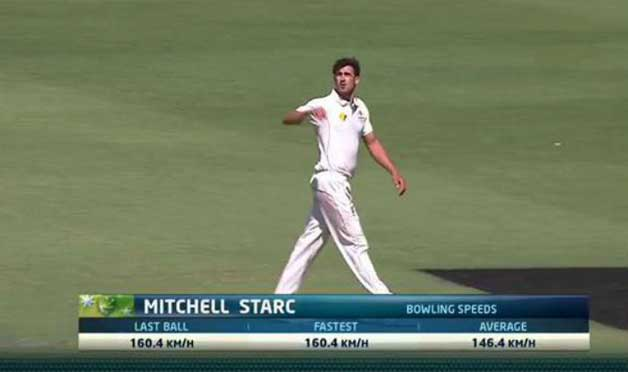 Fastest Ball by Mitchell Starc