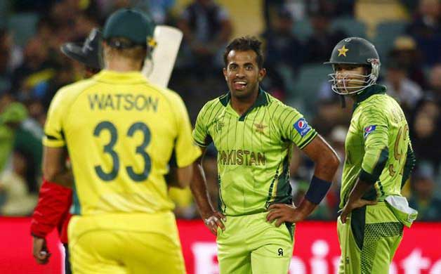 Wahab Riaz blowing fire on the 22 yards