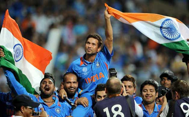 India's triumphant win in World Cup 2011