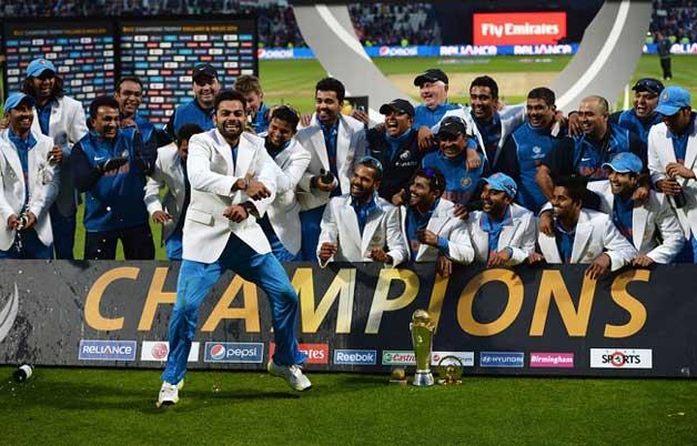India conquering 2013 ICC Champions Trophy