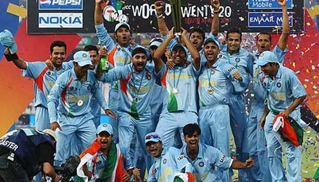Men in Blue sweeping the inaugural World T20 title