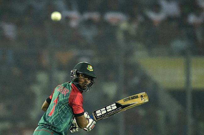 Sabbir Rahman provided some resistance with a 32-ball 44 in the