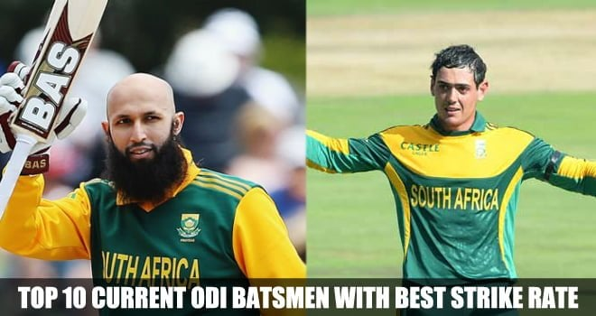 Current ODI Batsmen with best strike rate